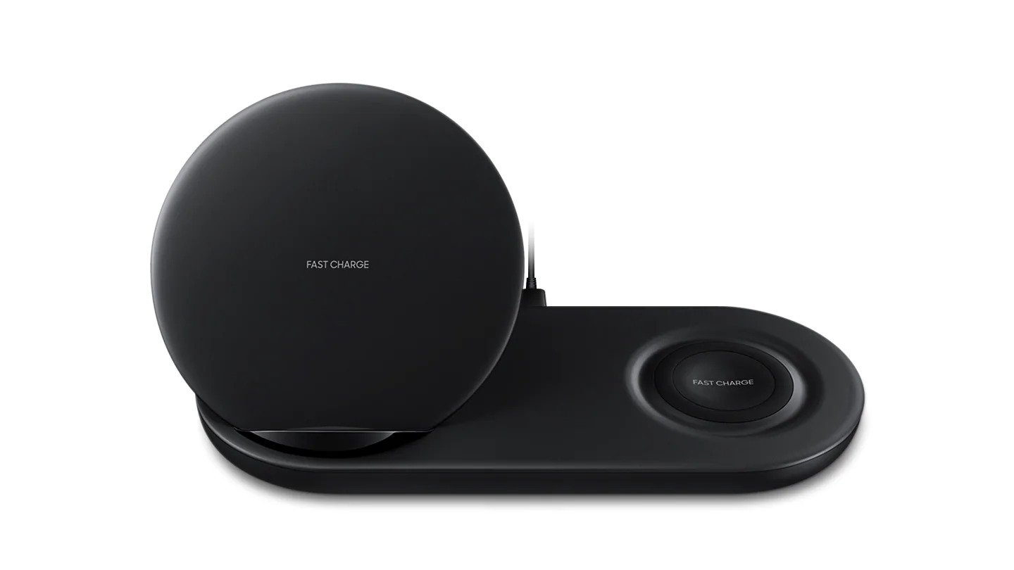 genuine samsung fast qi wireless charger pad duo galaxy. Black Bedroom Furniture Sets. Home Design Ideas