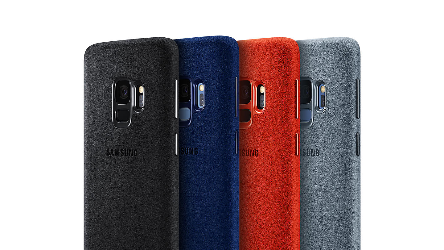 los angeles 7ceca e9a39 Details about Genuine Official ALCANTARA Case Cover for Samsung Galaxy  S9/S9 Plus Boxed